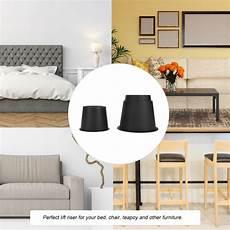 8pcs adjustable heavy duty furniture risers sofa bed table chair riser legs lift 741870039225 ebay
