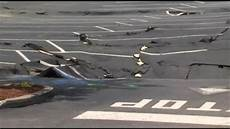 parking lot threatened by forming sinkhole video abc news