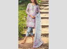 Buy Grey Embroidered Chiffon Salwar Kameez by Mina Hasan