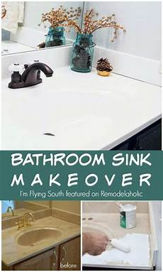 painted bathroom sink and countertop makeover remodelaholic bloglovin