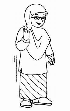 Mewarnai Gambar Mewarnai Gambar Princess Muslimah