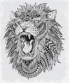 malvorlagen jackson edition рисованной абстрактного льва векторная иллюстрация