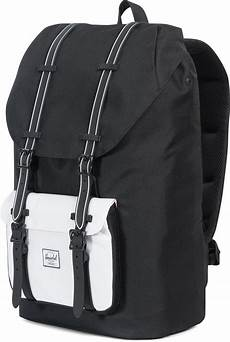 herschel america backpack black white