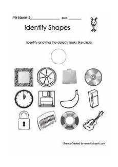 shapes objects worksheet 1222 worksheet to identify the circle like object matching worksheets geometric shapes worksheets
