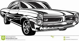 1960s Muscle Car Stock Vector Image Of Collector Grille