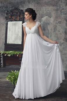Empire Wedding Gowns 2017 empire maternity wedding dresses beaded lace chiffon