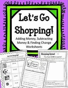 money shopping list worksheets 2221 student worksheets and money on