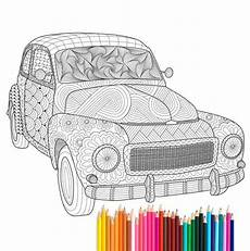 car coloring pages for adults 16433 pdf printable coloring page zentangle volvo pv544 by recyman coloring pages