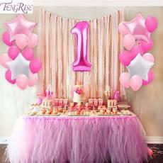 1st birthday decoration themes aliexpress buy fengrise 25pcs 1st birthday balloons