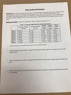 analyzing science data worksheets 12178 data analysis worksheet background one of the mos chegg