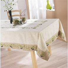 Nappe De Table 150x240cm Olive Polyester Achat