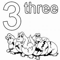 kostenlose malvorlage englisch lernen three zum ausmalen