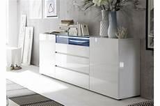 Buffet Design Laqu 233 Blanc Brillant Cbc Meubles