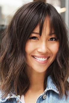 easy medium length hairstyles 35 wispy bangs ideas to try for a fresh take your style