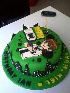 alma bakes ben 10 cake for ian