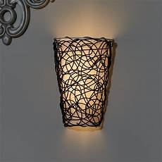 it s exciting lighting 6 light wicker wall sconce reviews wayfair