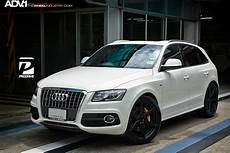 white audi q5 adv6 m v2 standard wheels matte black
