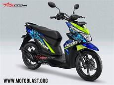 Striping Beat 2018 Modifikasi by Modifikasi Striping Honda Beat Icon Thriller