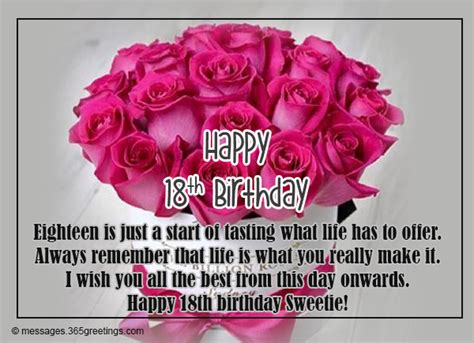 18th Birthday Wishes, Messages And Greetings