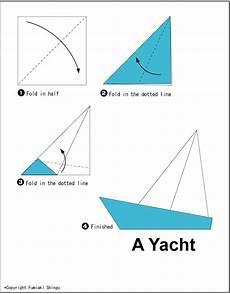 schiffchen falten anleitung yacht easy origami for