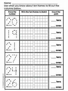 place value practice numbers 11 to 29 math classroom