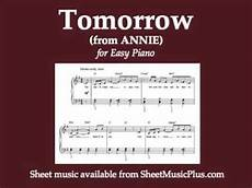 tomorrow from for easy piano youtube