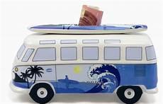 vw bulli spardose mit surfbrett surf vw merchandise