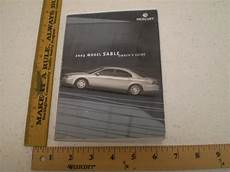 free car manuals to download 2003 mercury sable electronic valve timing 2003 03 mercury model sable owners manual set book free