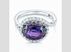 Custom Alexandrite, Blue and Purple Sapphire and Diamond