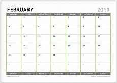 2019 monthly calendar planner download a4 or a3 12 pages infozio