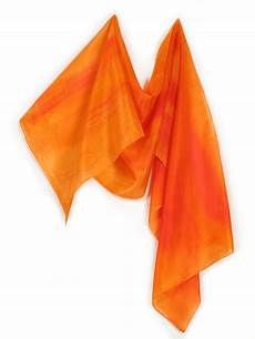 scarf silk paint by bright vibrant orange silk scarf