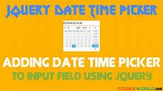 add date time picker to input field using jquery codexworld