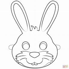 rabbit mask coloring page free printable coloring pages