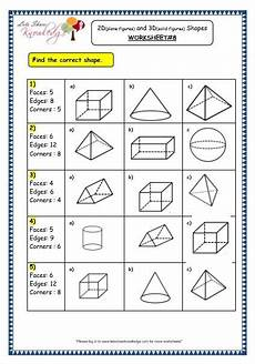 grade 3 maths worksheets 14 3 geometry 2d plane figures and 3d solid figures shapes