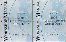 auto repair manual online 2006 ford e series parking system 2006 ford super duty f 250 550 repair shop manual original 2 volume set