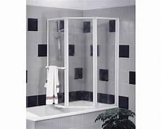 kleines bad optisch vergrößern badewannenfaltwand schulte 3 teilig kunstglas dekor