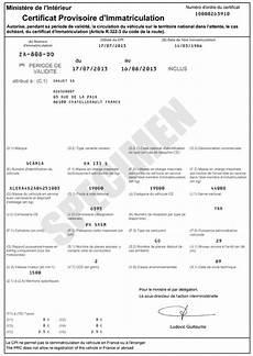 Carte Grise Qu Est Ce Que Le Certificat Provisoire D