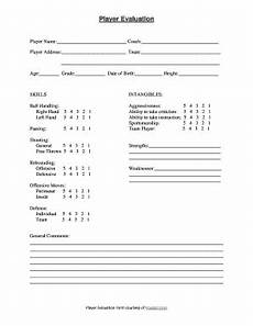 basketball player evaluation form pdf fill online printable fillable blank pdffiller