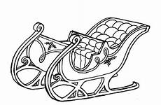santa s sleigh coloring pages santa claus and his sleigh
