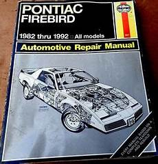 free online auto service manuals 1969 pontiac firebird seat position control haynes pontiac firebird 1982 1992 auto repair manual all models 867 ebay