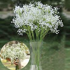 6x artificial silk flowers gypsophila baby s breath floral