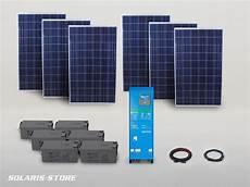 kit solaire autonome 1600w easysol 230v 1710wc 660ah