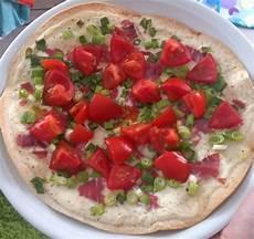 Flammkuchen Mit Tortilla Wrap Rezept Mit Bild