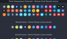 font awesome colored brand and social icons