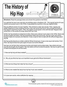 music history worksheets history of hip hop music worksheet education com