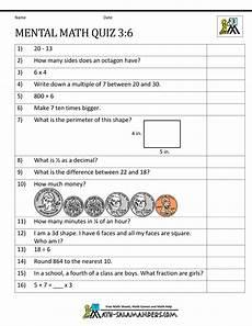 mental math quiz 3rd 6 worksheets math quizzes 4th grade math worksheets math worksheets