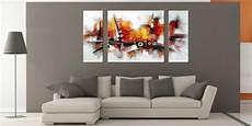 tableaux modernes pour salon design d int 233 rieur styl 233 avec le tableau triptyque