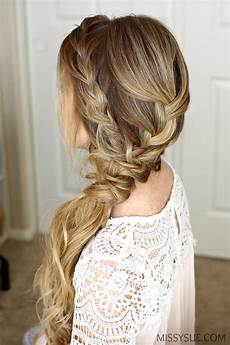 prom side braid hairstyles braided side swept prom hairstyle sue