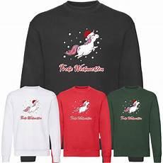frohe weihnachten einhorn sweatshirt herren sweater