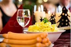 heiligabend essen tradition traditional german dinner wiener sausages